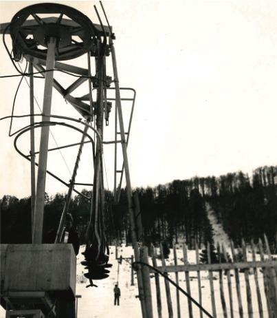 Premier téléski de Supervallée en 1961